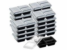 Rosenstein & Söhne 20boîtes de conservation 1,2L avec 3compartiments et couvercles