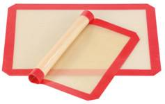 Rosenstein & Söhne 2tapis de cuisson antiadhésifs en silicone sans BPA