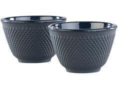 Rosenstein & Söhne Set de 2 tasses à thé style Arare - Noir
