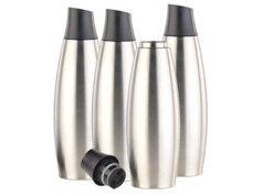 Carlo Milano 4 bouteilles isothermes design 650 ml en acier inoxydable