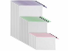 Rosenstein & Söhne 18 sachets pour fruits et légumes en matériaux recyclés