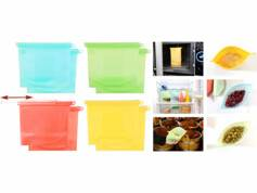 Rosenstein & Söhne 8 sachets alimentaires refermables en silicone,1000 ml