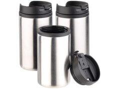 Rosenstein & Söhne 3 gobelets isothermes à double paroi - 28 cl