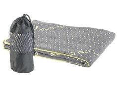 Pearl Sports Serviette yoga en microfibres antidérapante - Gris