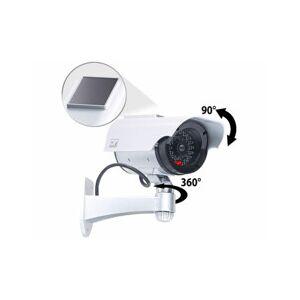VisorTech Caméra de surveillance solaire factice avec signal LED - Publicité