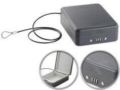 XCase Mini coffre-fort voyage & voiture avec câble de sûreté - 1 L