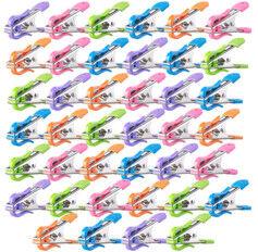 Pearl 40 pinces à linge avec clips de suspension extérieurs et soft grip, 5 coloris