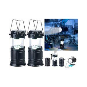 Semptec 2 lanternes de camping solaires à LED 80 lm avec batteries de secours USB - Publicité