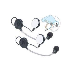 Callstel Lot de 2 micro-casques intercom stéréo avec bluetooth pour casque de moto - Publicité