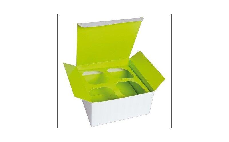 Boîte cupcake insert vert