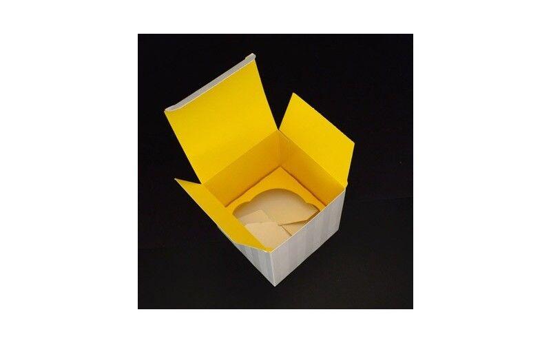 Boîte cupcake insert jaune