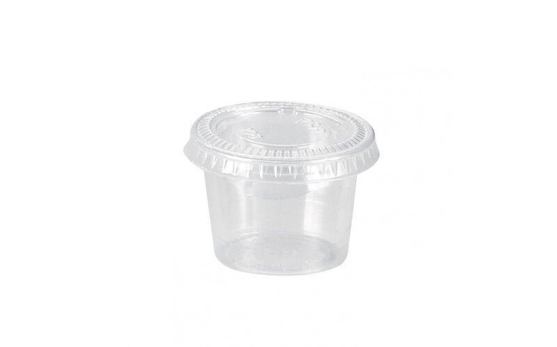 Pot plastique 30 ml + couvercle