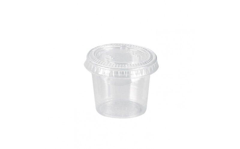 Pot plastique 45 ml + couvercle