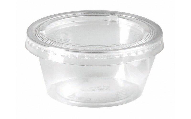 Pot plastique 90 ml + couvercle