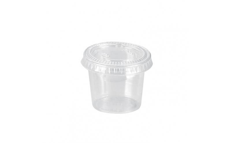 Pot plastique 165 ml + couvercle