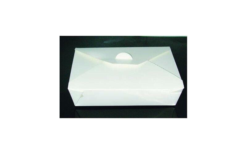 Boîte repas blanc 21x16x5 cm
