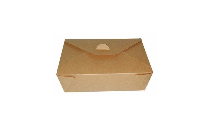 Boîte repas brun 21x16x6 cm