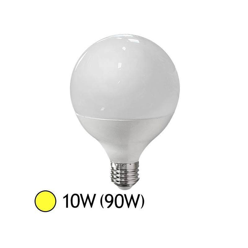 Vision-EL Ampoule LED 10W (90W) E27 Globe Blanc chaud 3000°K