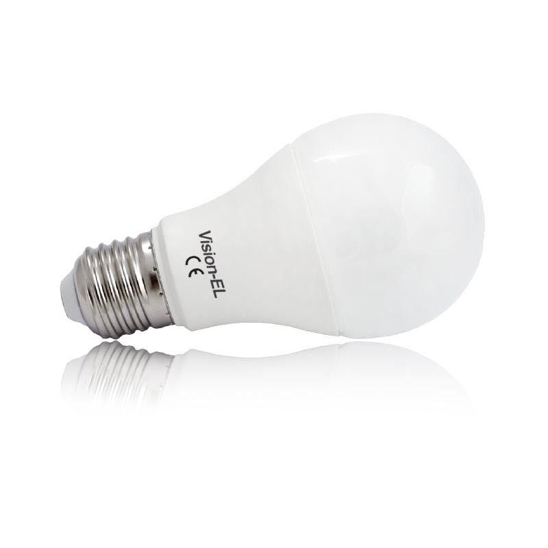Vision-EL Ampoule Led 10W (90W) E27 Blanc jour 6000°K Bulb opale