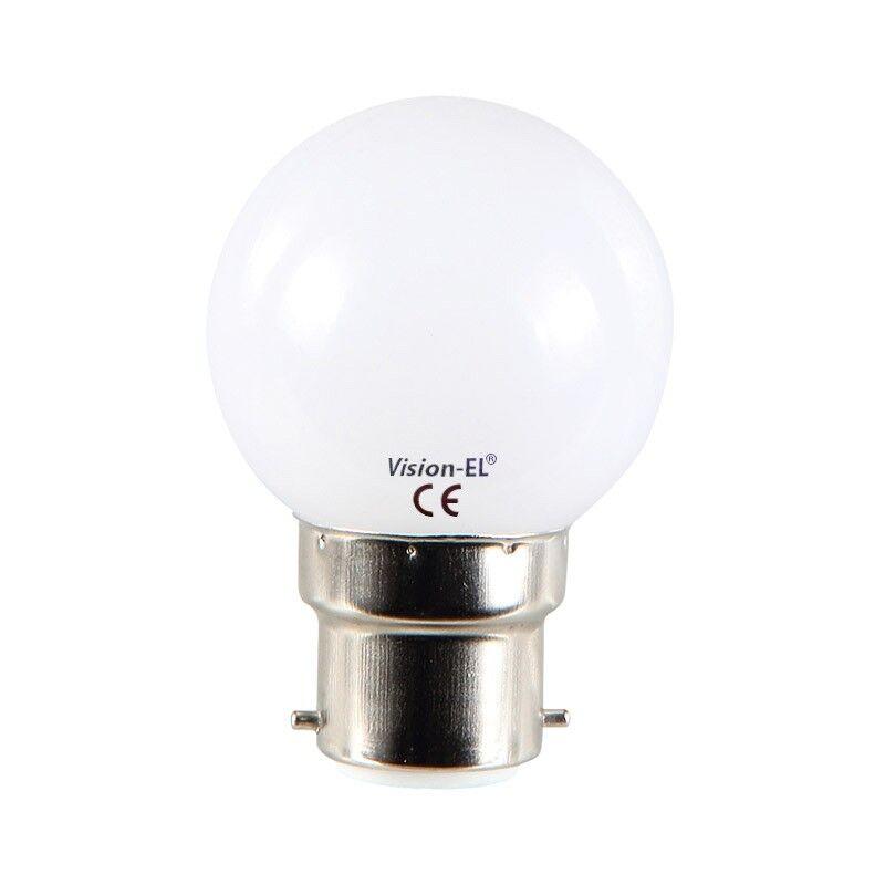Vision-EL Ampoule Led 1W (9W) B22 Multi couleurs RGB avec défilement automatique