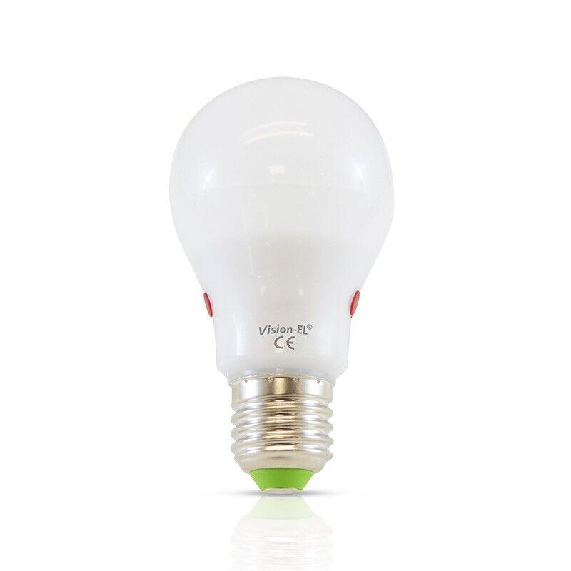 Vision-EL Ampoule Led 10W (90W) E27 Blanc jour 6000°K avec détecteur crépusculaire