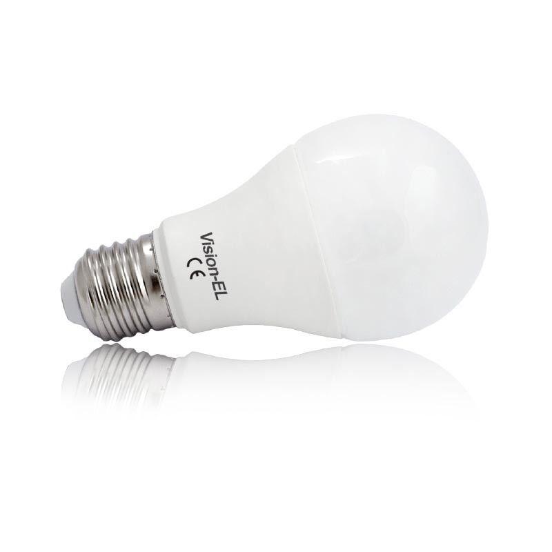 Vision-EL Ampoule LED 10W (90W) E27 Dimmable Blanc jour 6000°K Bulb opale 880 lumens