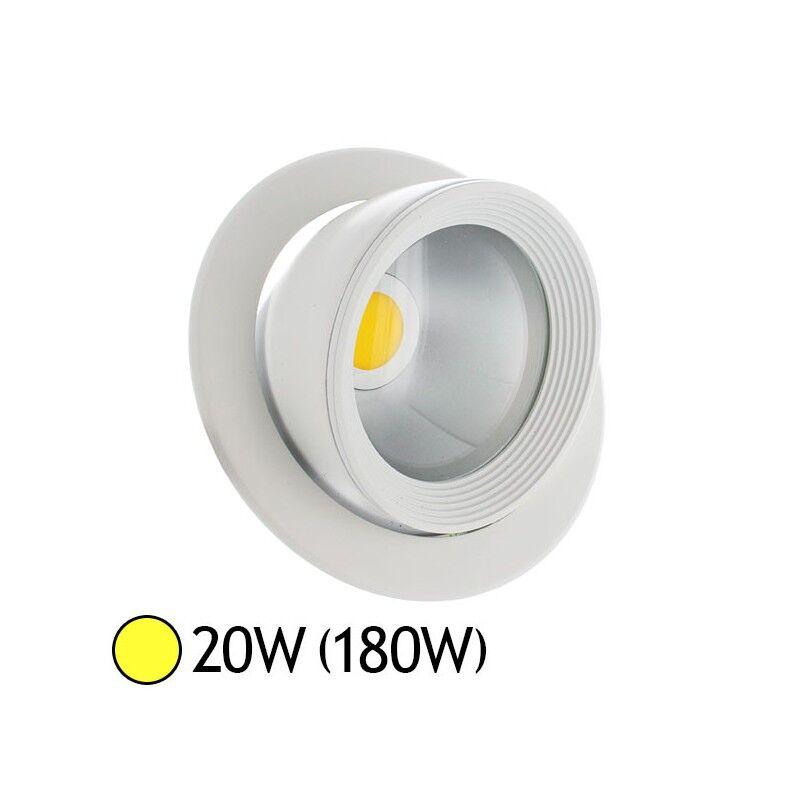 Vision-EL Spot Led escargot COB 20W (180W) encastrable orientable Blanc chaud