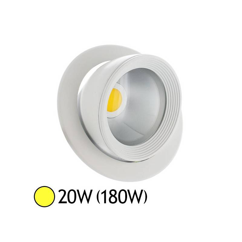 Vision-EL Spot Led escargot COB 20W (180W) encastrable orientable Blanc chaud