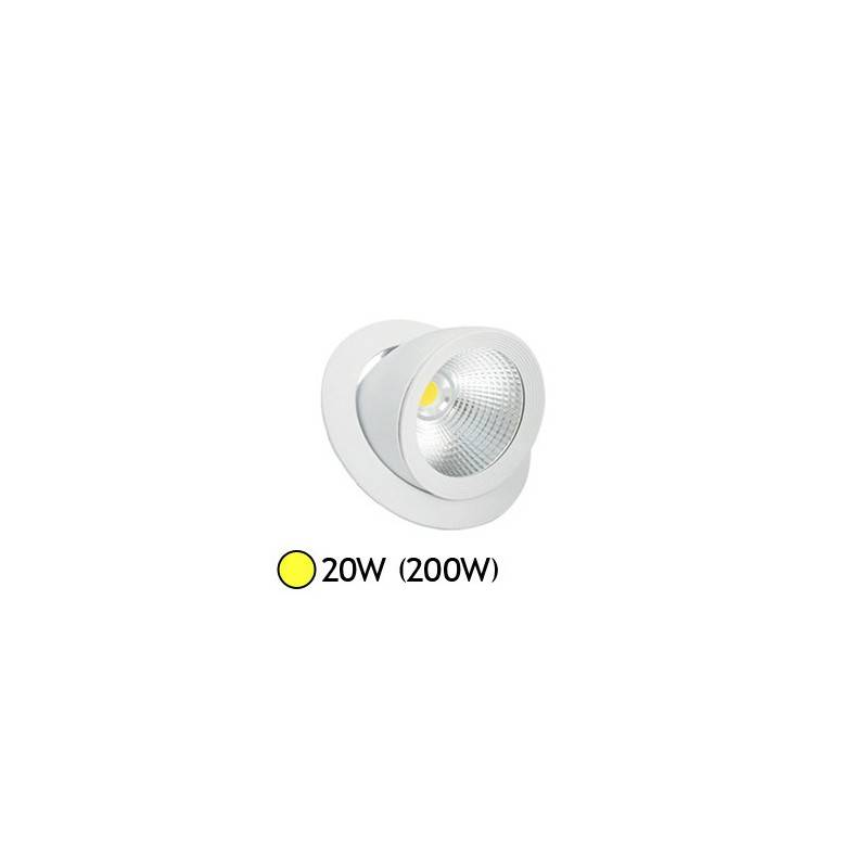 Vision-EL Spot Led escargot COB 20W (200W) encastrable orientable Blanc chaud