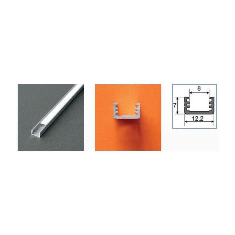 Vision-EL Profilé aluminium LED FIN 1000 mm pour bandeau LED