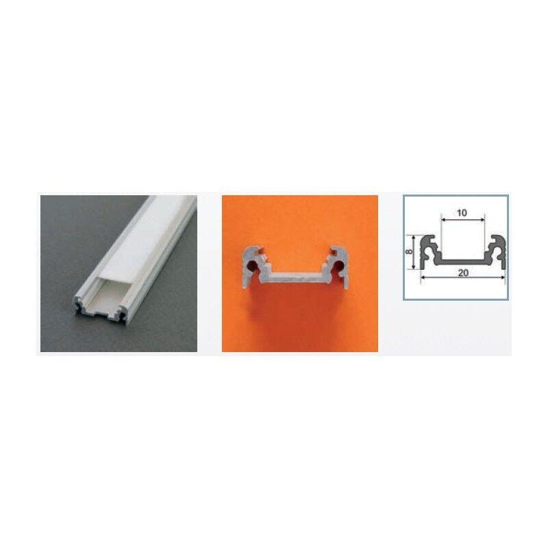 Vision-EL Profilé aluminium anodisé LED PLAT 1000 mm pour bandeau LED