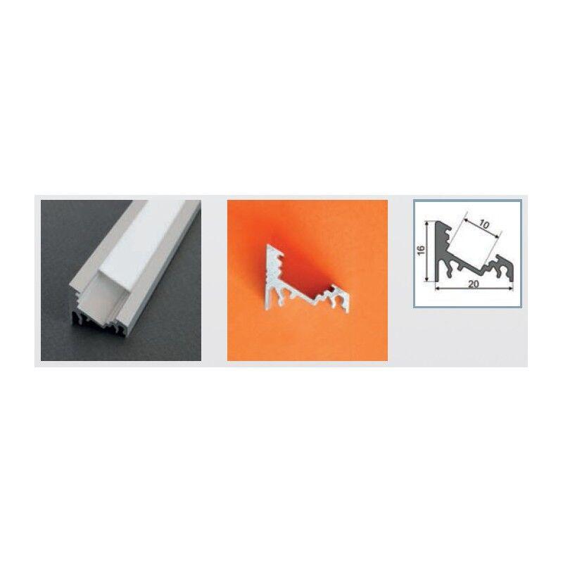 Vision-EL Profilé aluminium anodisé LED ANGLE 30/60° 1000 mm pour bandeau LED