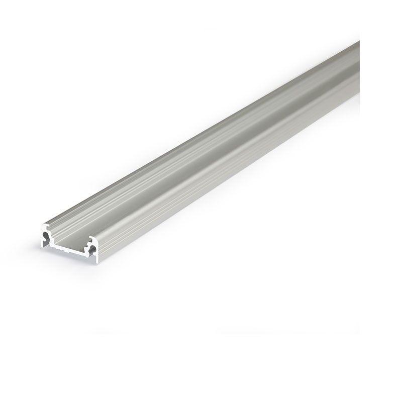 Vision-EL Profilé aluminium anodisé PLAT 14,4 mm x 2000 mm pour bandeau LED