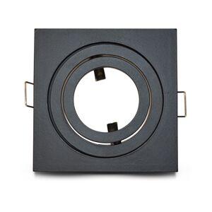 Vision-EL Support plafond pour spot LED Orientable Carré 88x88mm Finition Noir mat - Publicité