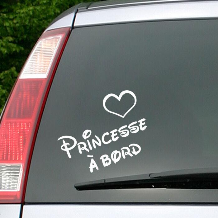 Ambiance-sticker Sticker Princesse à bord