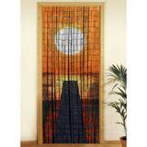 Wenko Rideau de porte - Bambou - Coucher de soleil