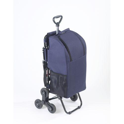 Wenko Chariot de courses avec siège - Sac isotherme 35 L - Bleu foncé