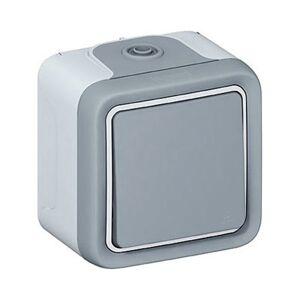 Legrand Plexo Interrupteur va et vient étanche complet gris IP55 - 069711 - Legrand - Publicité