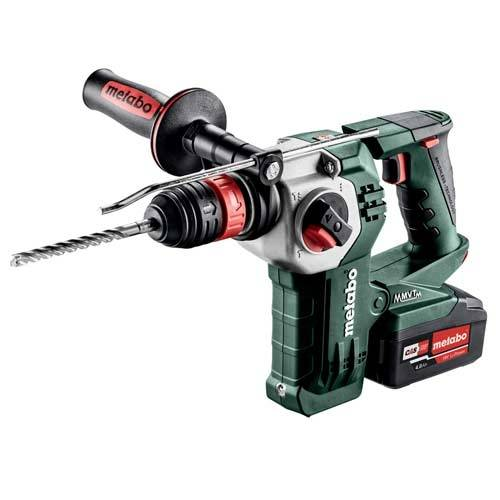 METABO Marteau perforateur burineur sans fil 18V 2x4Ah KHA 18 LTX BL 24 Quick - 600211970 - Metabo