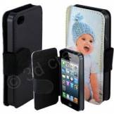 3d creation Etui téléphone a clapet personnalisé noir Iphone 7 et 8
