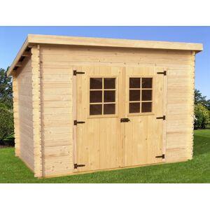 abri de jardin en bois Charente 3x2 m - Publicité