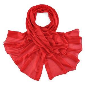 Allée du foulard Etole soie rouge vermillon
