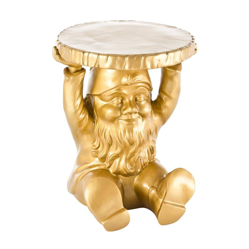 Kartell Gnomes Attila - Table d'appoint nain - or/matière plastique