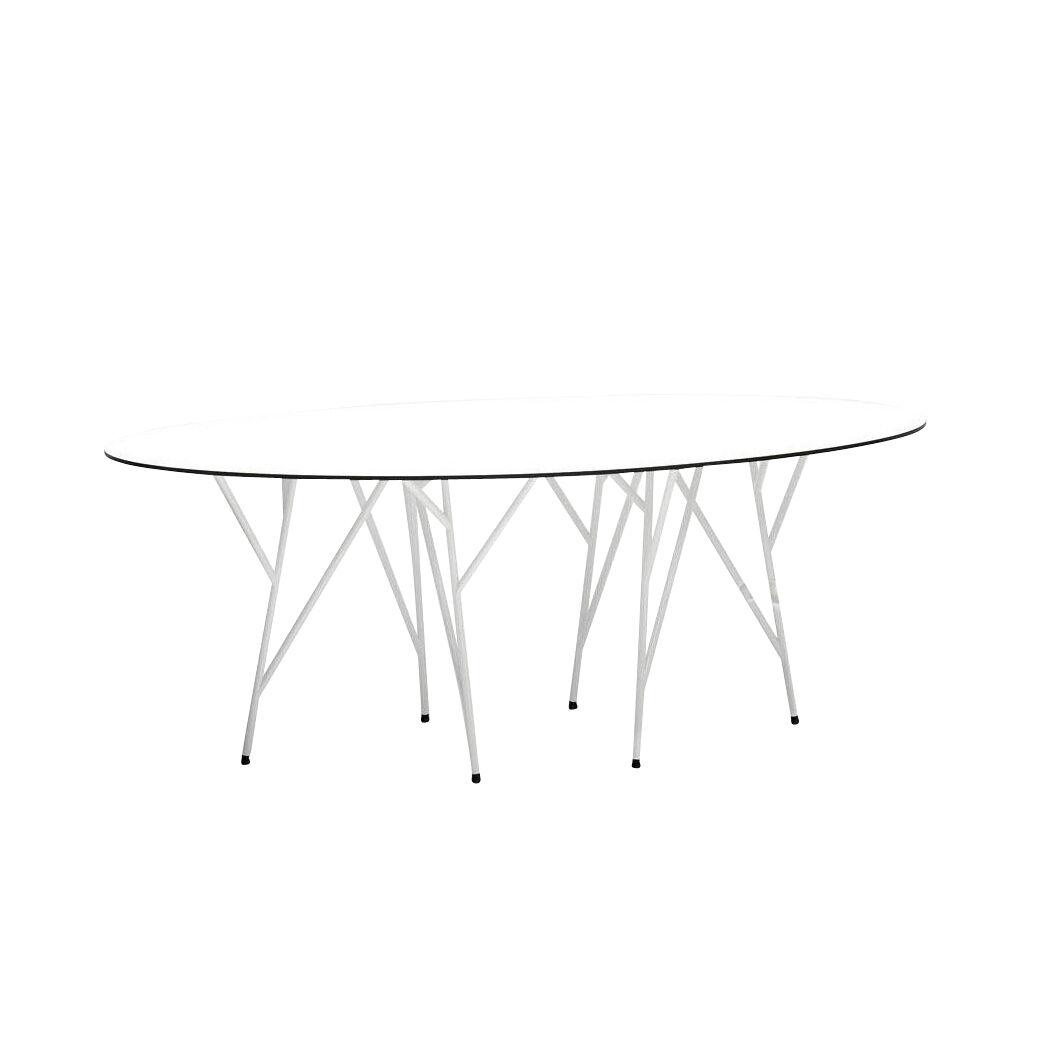 Jan Kurtz Astwerk - Table de jardin - blanc/plateau de table HPL/PxHxP 180x75x100cm/structure acier