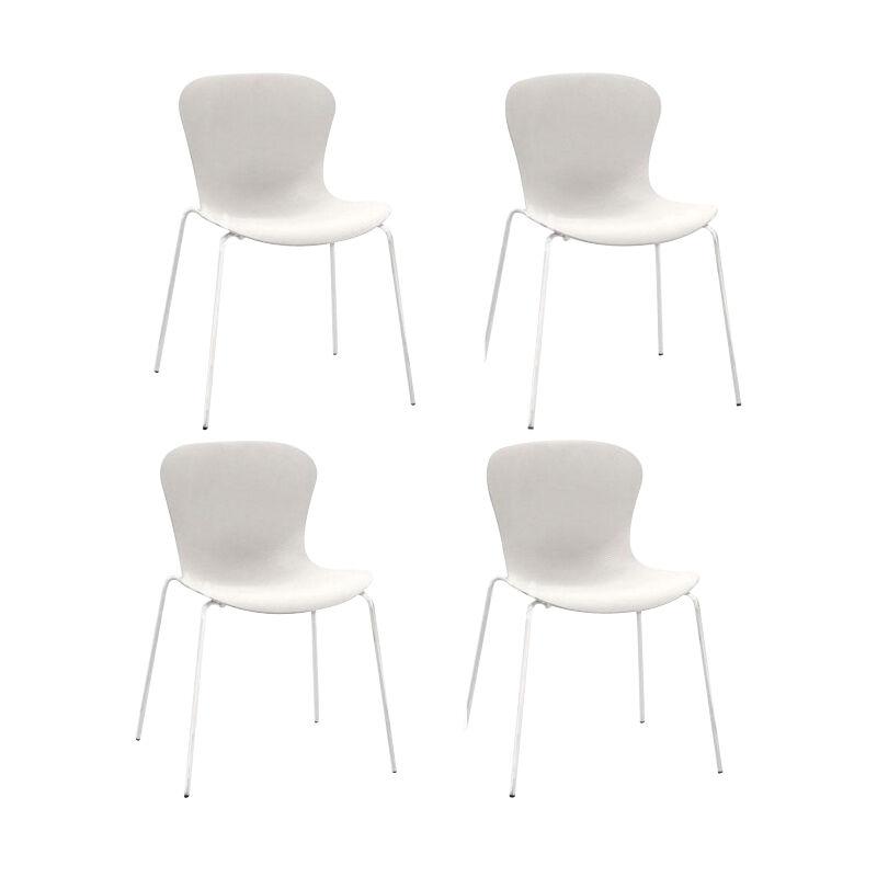 Fritz Hansen Set de 4 chaises Nap™ KS50 - blanc lait/assise nylon/structure acier revêtu par poudre blanc lait/LxHxP 54x77x51cm