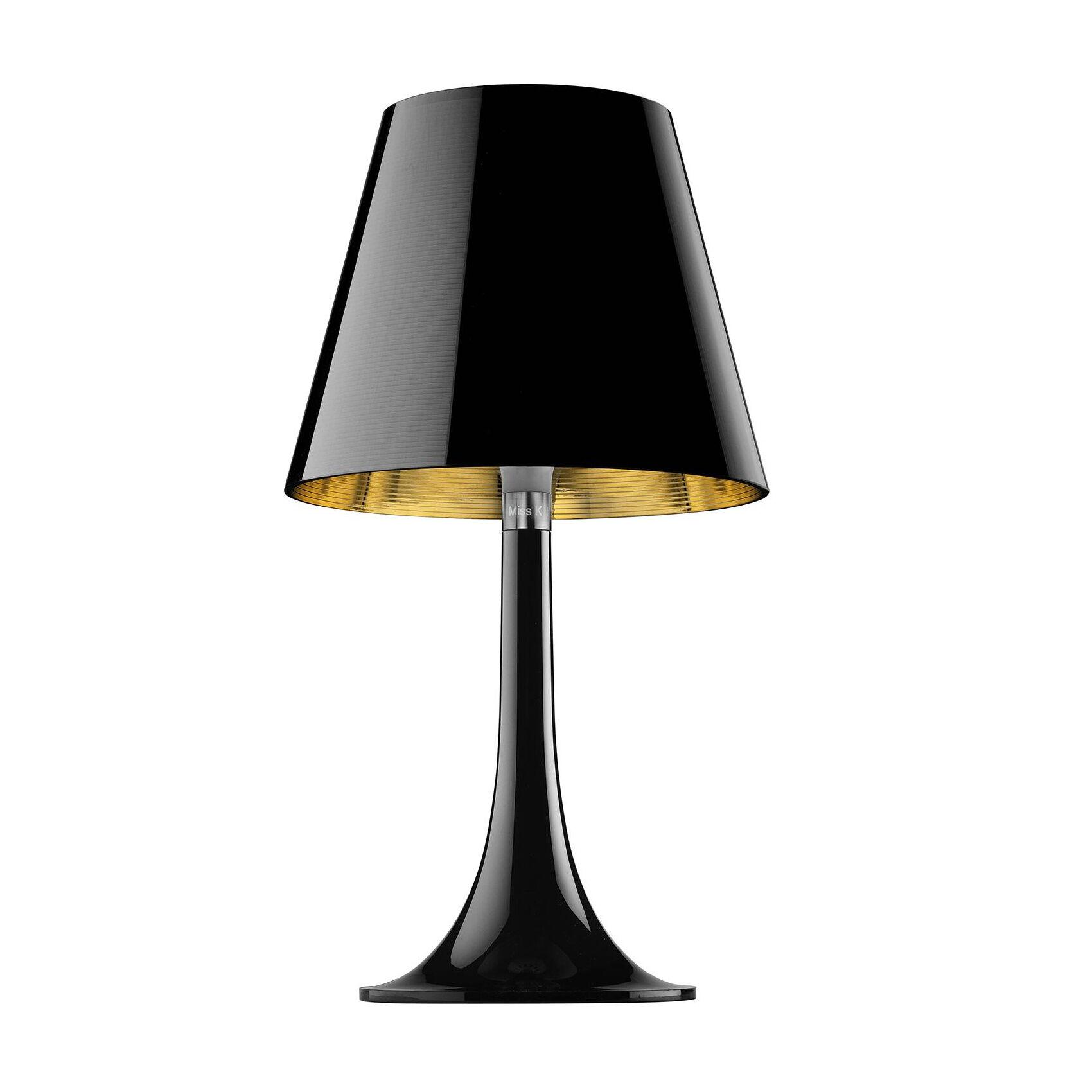 Flos Miss K - Lampe de Table - noir/intérieur or