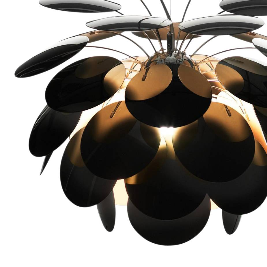 Marset Discocó A - Applique murale - noir/or/brillant/38.0 x 27.5cm