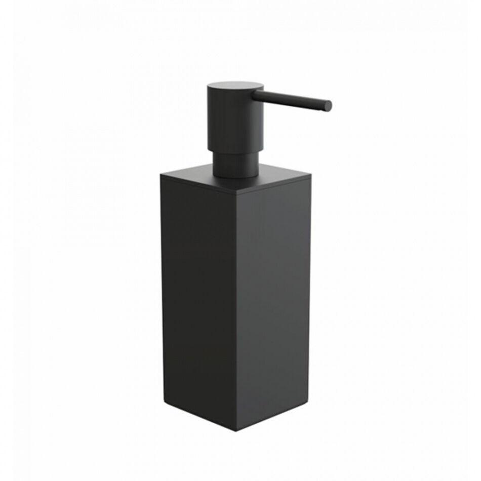 FROST Quadra - Distributeur de savon - noir/BxH 6x18,5cm