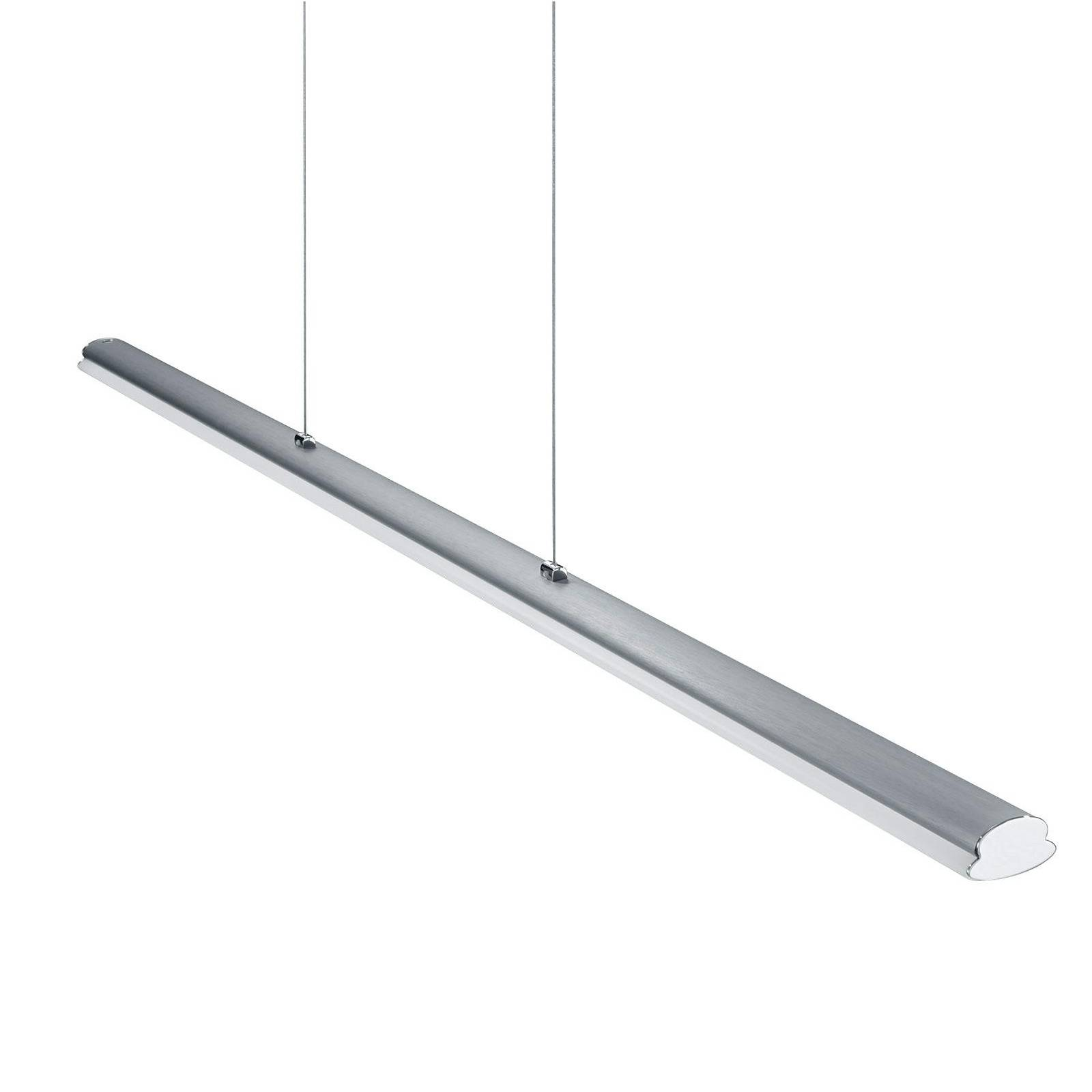 Helestra Suspension LED Venta - nickel/anodisé/PxHxP 116,5x3x5cm/2800K/1910lm