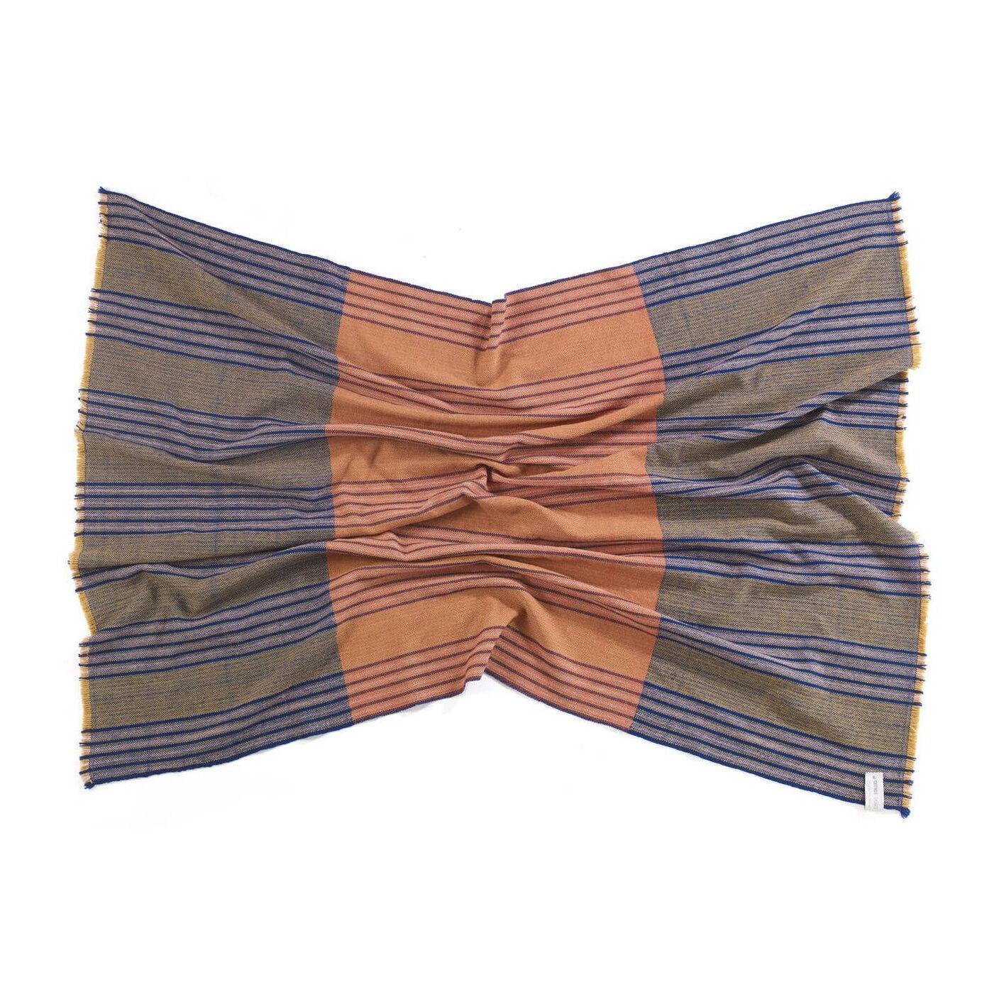 Ames Couverture Mulera - moutarde/bleu/orange/LxP 180x138cm/Chaque pièce est unique